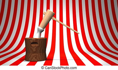 Loop Able Mochi Pounding On Red White Background