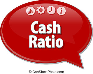 Cash Ratio Business term speech bubble illustration - Speech...