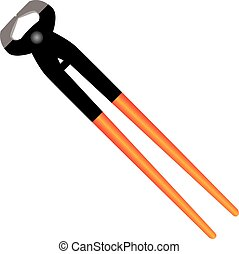 Crescent Nippers - Crescent heavy duty wire cutters. Vector...