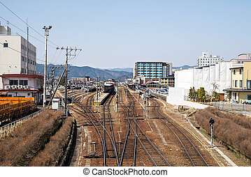 Country side train or Railway in Japan - Japan train,Country...