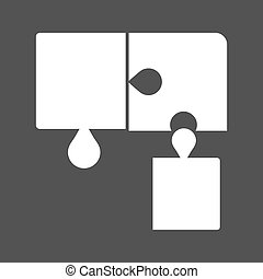 Puzzle Game - Puzzle, cube, game icon vector imageCan also...