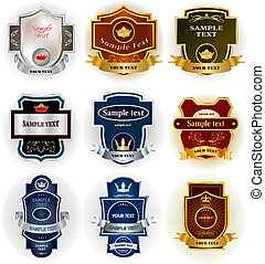 Decorative labels collection set vector