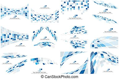 Set of Checkered Backgrounds With Text Space. Ideal Balanced...