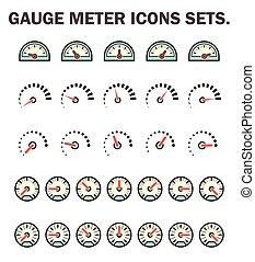 Guage meter icon - Gauge meter icons sets