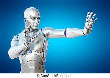 Robot protection rack