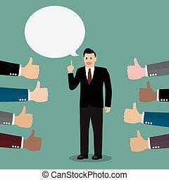 Good speech Vector Illustration