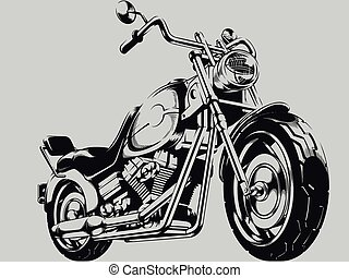 Vintage Motorcycle Vector Silhouette - A vector image of a...