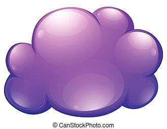 Purple cloud on white illustration
