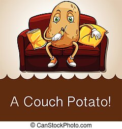 Old saying couch potato