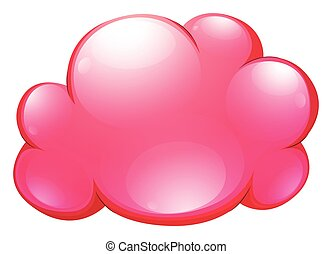 Pink cloud on white