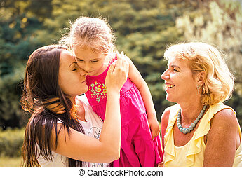 Three generations - intimate moments - Women generations -...