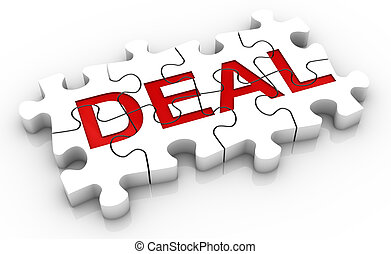 Jigsaw Puzzle Deal Word