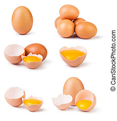 eggs - set of eggs isolated on white background