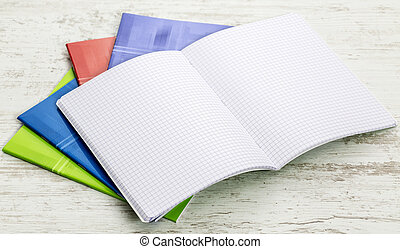 Stack of Notebooks - Image of a stack of colorful notebooks...