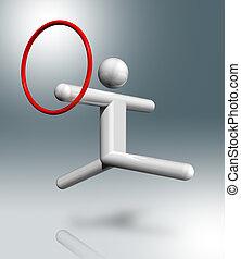 Gymnastics Rhythmic 3D symbol, Olympic sports