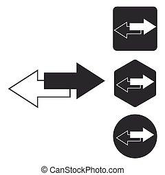Opposite icon set, monochrome - Opposite icon set, two...
