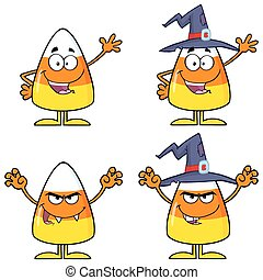 Candy Corn Character 1. Collection