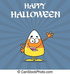 Happy Candy Corn Waving