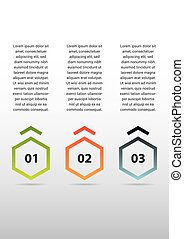 Infographic - Set of 3 numbered colorfull banners