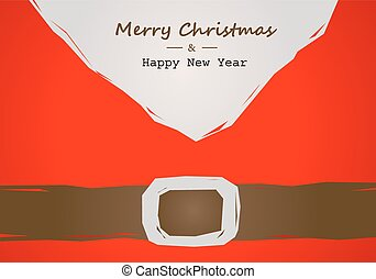 christmas card with Santa belt
