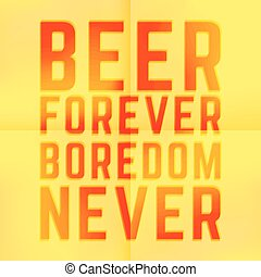 Forever - Quote Joke Motivational Square Beer forever...