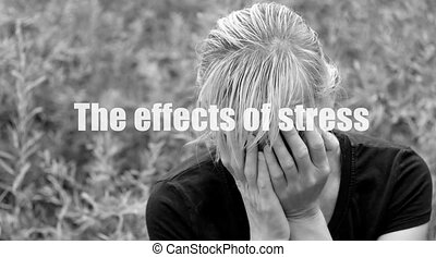 The effects of stress - Monochrome photo of a middle aged...