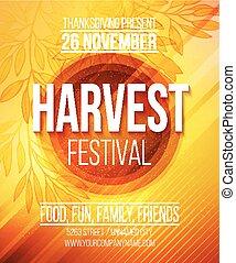 Harvest Festival Poster. Vector illustration EPS 10
