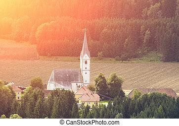 Austrian Church at Sundown