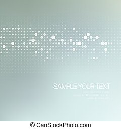 Modernistic abstract dot tech background. Vector...