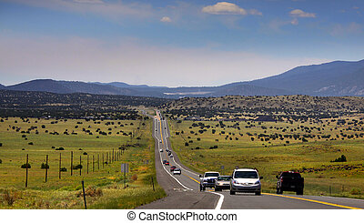 High way in Arizona - Scenic high way near flagstaff Arizona...