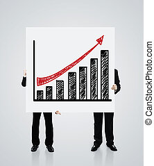 poster with growth of chart