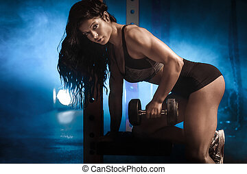 Sexy fit woman posing.