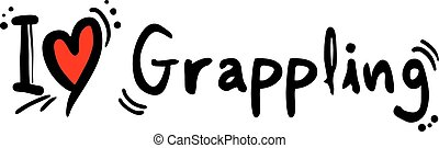 Grappling love - Creative design of Grappling love