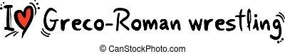 Greco-Roman wrestling love - Creative design of Greco-Roman...