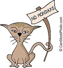 no mondays message - Creative design of no mondays message