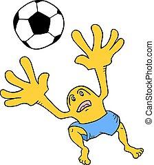 Soccer goalkeeper - Creative design of Soccer goalkeeper