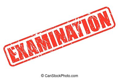 EXAMINATION red stamp text on white