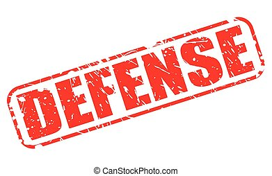 DEFENSE red stamp text on white