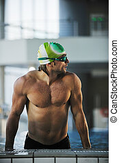 swimmer - health and fitness lifestyle concept with young...