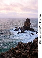 ocean coastline in Peniche, Portugal