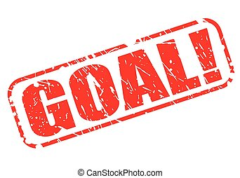 Goal red stamp text on white