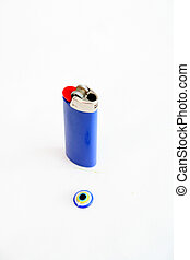 evil eye stone - picture of a evil eye stone on a white...