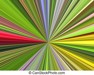 Fusion of various colors beams - Abstraction - fusion of...