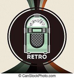 retro device design, vector illustration eps10 graphic