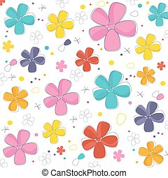Colorful abstract flowers background vector