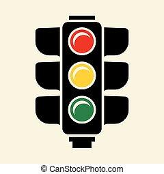 Traffic light vector sign