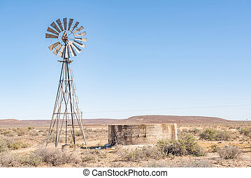 Rural Karoo scene - A typical rural Karoo scene in South...