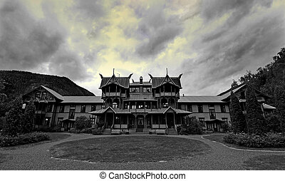 Old Mansion - Ancient hotel photograped in southern Norway,...