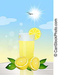 lemonade - illustration of lemonade