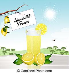 fresh lemonade - illustration of fresh lemonade